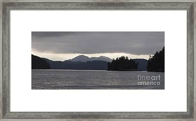 Shad's Of Gray Framed Print