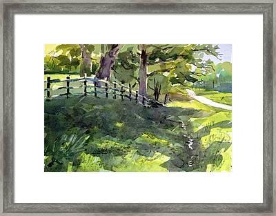 Shady Lane Framed Print by Spencer Meagher