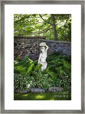 Shady Perennial Garden Framed Print