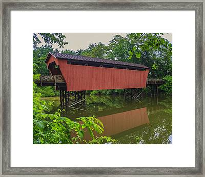 Shaeffer Or Campbell Covered Bridge Framed Print by Jack R Perry