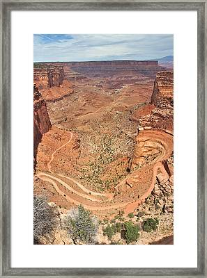 Shafer Trail Framed Print by Adam Romanowicz