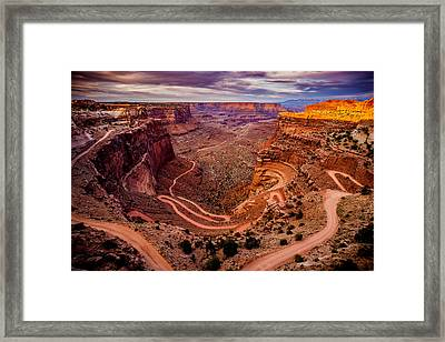 Shafer Trail Horizontal Framed Print