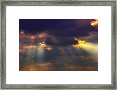 Shafts Of Sunlight Framed Print