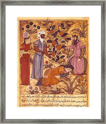Shahnameh. The Book Of Kings. 16th C. A Framed Print by Everett