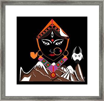 Shailputri Framed Print by Pratyasha Nithin