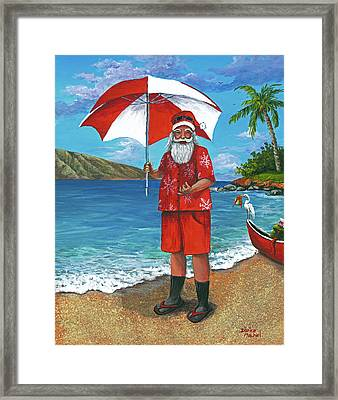 Framed Print featuring the painting Shaka Santa by Darice Machel McGuire