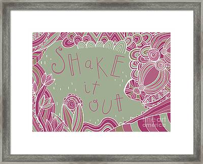Shake It Out Framed Print