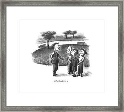 Shakedown Framed Print by William Steig