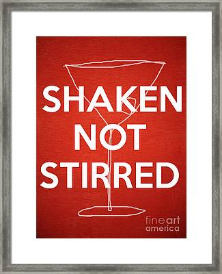 Shaken Not Stirred Framed Print by Edward Fielding