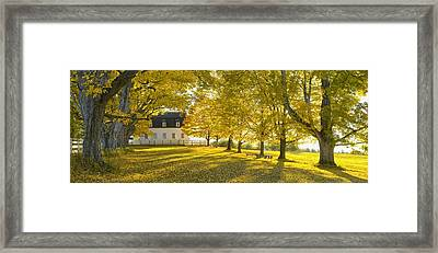 Shaker Village Framed Print by Christian Heeb