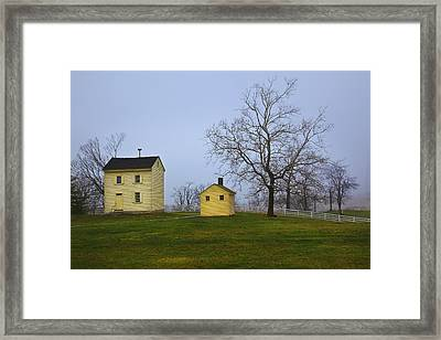 Shakertown Morning Framed Print