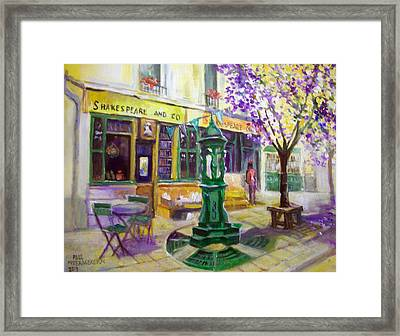 Shakespeare And Co Bookshop Framed Print