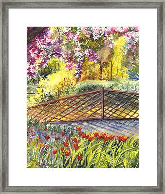 Shakespeare Garden Central Park New York City Framed Print by Carol Wisniewski