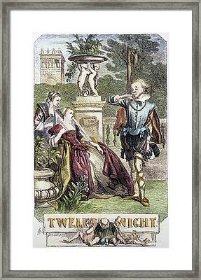 Shakespeare Twelfth Night Framed Print