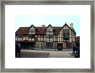 Shakespeare's Birthplace Framed Print by Terri Waters