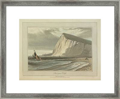 Shakespeare's Cliff Framed Print by British Library