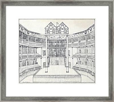Shakespeares Globe Theatre Framed Print by Folger Shakespeare Library