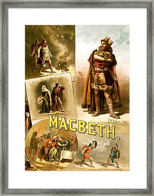 Shakespeare's Macbeth 1884 Framed Print by Mountain Dreams