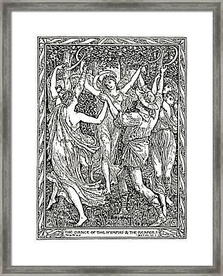 Shakespeare's Tempest Illustration Engraving Framed Print by