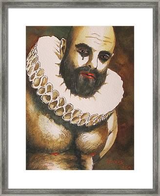 Shakespearian Bear Framed Print