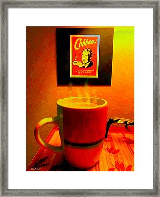 Shakey Planet Or Good Coffee Framed Print by Buzz Coe