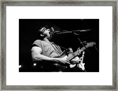 Framed Print featuring the photograph Shakin' Strat by Ray Congrove