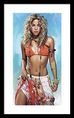 Shakira Framed Prints