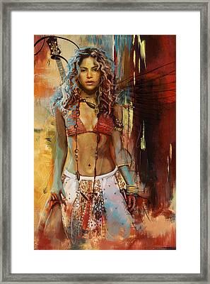 Shakira  Framed Print by Corporate Art Task Force