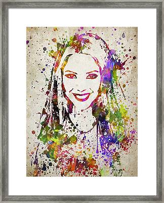 Shakira In Color Framed Print by Aged Pixel