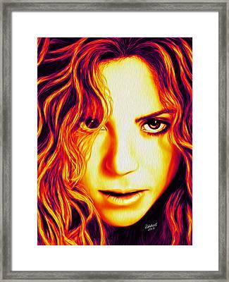 Shakira Framed Print by Rebelwolf