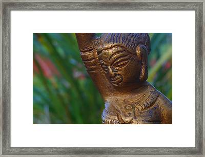 Shakti Praises The Sunset Framed Print by Sherry Dooley