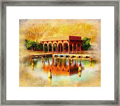 Shalimar Gardens Framed Print