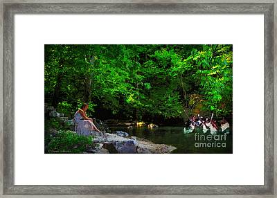 Shall We Gather At The River Framed Print