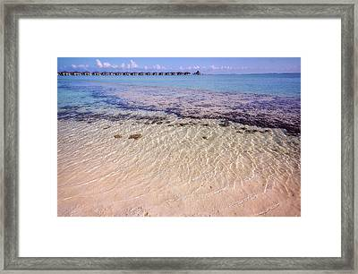 Shallow Waters Of Lagoon. Sun Island Resort Framed Print by Jenny Rainbow