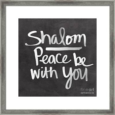 Shalom Framed Print by Linda Woods