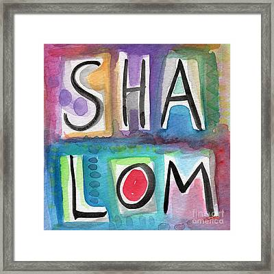 Shalom - Square Framed Print by Linda Woods
