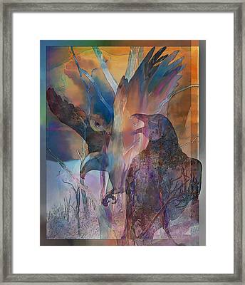 Shaman's Friends Framed Print by Ursula Freer