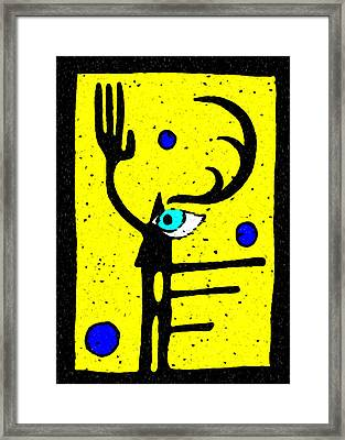 Shaman's Seeing Hand Framed Print by e9Art