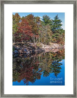 Shambeau Park Fall Reflection Framed Print