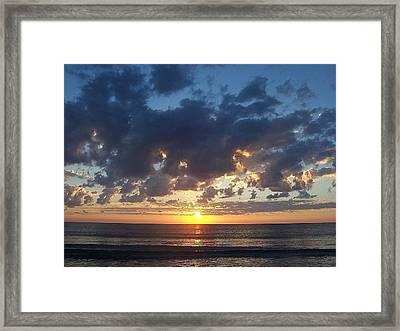 Shambhala Sun Framed Print by Sheila Silverstein