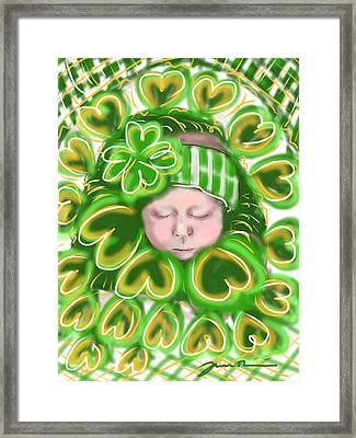 Shamrock Baby Framed Print