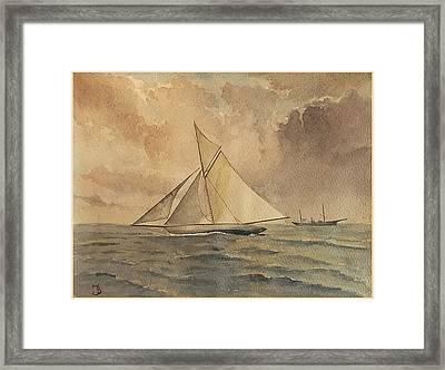 Shamrock I Framed Print by Juan  Bosco
