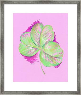 Shamrock Pink Framed Print by MM Anderson
