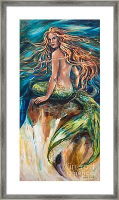Shana The Mermaid Framed Print by Linda Olsen
