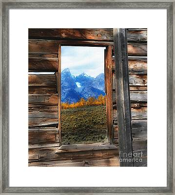 Shane Cabin Window  Framed Print