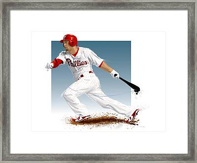 Shane Victorino Framed Print by Scott Weigner