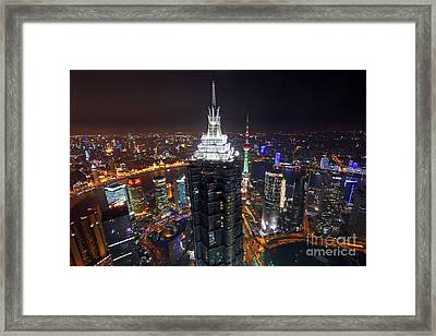 Shanghai At Night Framed Print