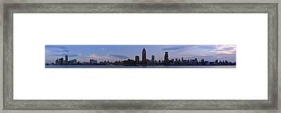 Shanghai Bund Panorama - Dusk Framed Print