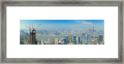 Shanghai Panorama Framed Print