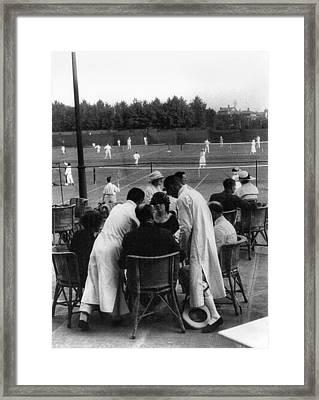 Shanghai Tennis Club Framed Print by Granger